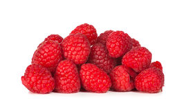 Close up photo of raspberries fruit Royalty Free Stock Images