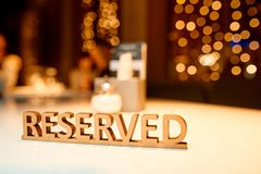 Reserved the table Royalty Free Stock Photo