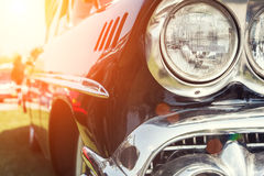 Close-up photo of retro car Stock Images