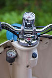 Close-up photo of retro scooter odometer Royalty Free Stock Images