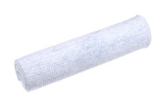 Close-up photo of rolled up white fabric Stock Photo