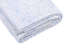 Close-up photo of rolled up white fabric Stock Photography
