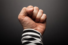 Close-up photo of sailor fist Stock Photo