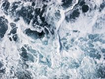 Close-up photo of seawater in the ocean royalty free stock image