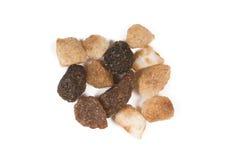 Close-up photo of some bits brown sugar. Close-up photo of some bits brown sweet sugar Stock Images