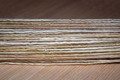 Hand Spun Yarn Royalty Free Stock Photography