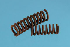 Close up photo of  steel spring Stock Image