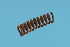 Close up photo of  a steel spring Royalty Free Stock Photography