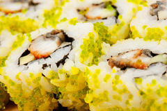 Close up photo of the sushi Stock Images