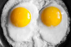 Close-up photo of two scrambled eggs Royalty Free Stock Photography