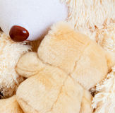Two teddy bears hugging each other Royalty Free Stock Photo