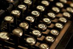 Close up photo of vintage typewriter keys Royalty Free Stock Photos