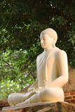 Close Up Photo White Buddha Statue Stock Photo