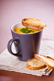 Carrot Soup In A Cup Stock Photography