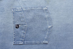 Close-up photograph of deep blue denim material. Stock Photos