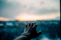 Close Up Photograph of Human Hand during Sunset Royalty Free Stock Photo