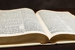 Free Close-up Photograph Of Open Old Bible On Brown Stock Photos - 141416493