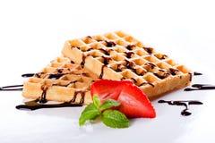 Tasty Waffles Royalty Free Stock Photography