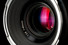 Close-up of photographic lens Royalty Free Stock Image