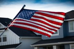 Close-Up Photography of American Flag Stock Images