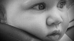 Close Up Photography of Baby's Face Stock Photos