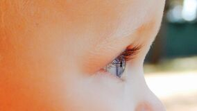Close Up Photography of Baby's Right Eye Stock Photos
