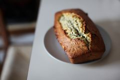 Close-Up Photography of Banana Bread on Saucer stock photo
