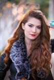 Close-Up Photography of Beautiful Girl royalty free stock photography