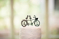 Close-up Photography of Black Tandem Bicycle Scale Model stock image