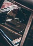 Close-up Photography of Black Vehicle Steering Wheel royalty free stock photos