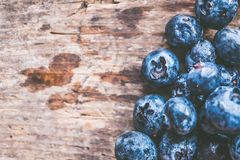 Close-Up Photography of Blueberries Stock Images