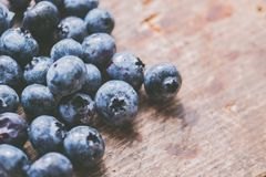 Close-Up Photography of Blueberries Royalty Free Stock Photography
