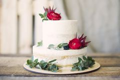 Close-Up Photography of Cake With Flower Decor Stock Photo