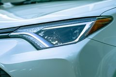 Close-Up Photography of Car Headlight Stock Image
