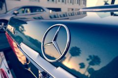 Close Up Photography of Chrome Mercedes-benz Car Emblem Royalty Free Stock Photos