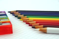 Close Up Photography of Coloring Pencils Royalty Free Stock Images