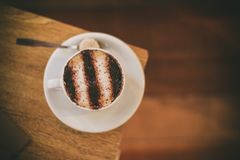 Close-up Photography of Cup of Cappuccino Stock Photos