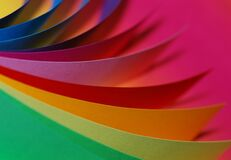 Close Up Photography of Different Type of Colors of Paper Royalty Free Stock Photography