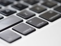 Close-Up Photography of Macbook Keyboard Royalty Free Stock Image