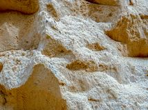 Mound of sand used in construction royalty free stock photos
