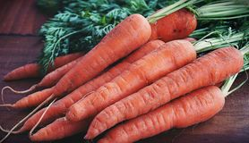 Close-up Photography of Orange Carrots royalty free stock photography