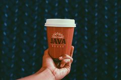Close-UP Photography of Paper Coffee Cup Royalty Free Stock Photo