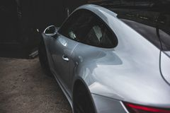 Close-Up Photography of Silver Sports Car stock photography