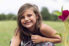 Close-up Photography of a Smiling Girl royalty free stock images