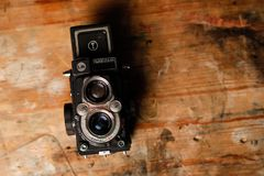 Close-Up Photography of Vintage Camera Royalty Free Stock Photos