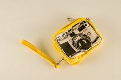 Close-up of photography wallet bag. Object on a White Background stock photos