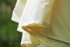 Close Up Photography of White Textile Royalty Free Stock Photo