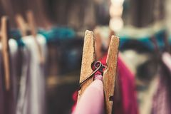 Close-up Photography of Wooden Clothespin stock photography