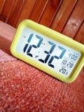Close-Up Photography of Yellow Alarm Clock Stock Image