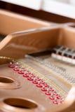 Close-up of piano chords Stock Photo